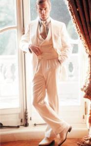 Robert Redford como Jay Gatsby en la adaptación al cine de la novela de Jack Clayton (1974)