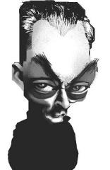 paul auster caricatura