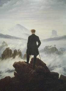 Caminante sobre un mar de nubes, de Friedrich, representa la soledad romántica ante lo sublime