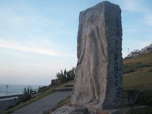 Monumento en Mar del Plata a Alfonsina Storni