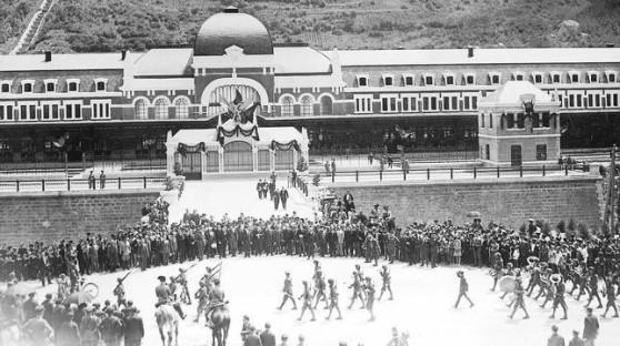 Día de la inauguración de la Estación de Canfranc. 18 de julio de 1928