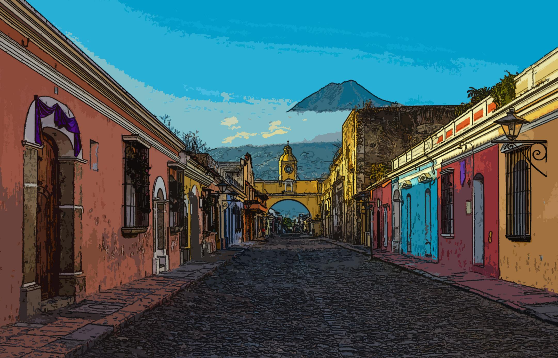 Antigua City at Sunrise