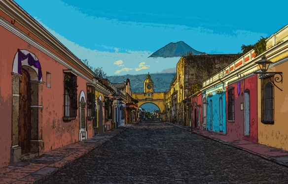 Antigua City at Sunrise